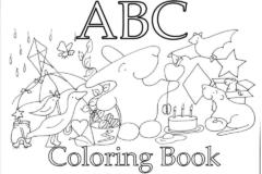 Sách tập tô từ vựng chữ cái ABC Coloring Book